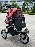 InnoPet Hundebuggy Hundewagen Hundekinderwagen 'Comfort EFA' - hochwertig stabil schwarz rot klappbar