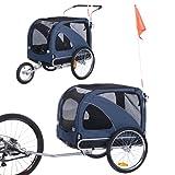 2-in-1-Kinderwagen, großer Hundeanhänger, zum Joggen / Fahrradanhänger verwendet, einschließlich Anhängerhaken und Sicherheitsgurt-Hundeanhänger 10202 (Blau)
