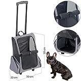 Sweetypet Hunderucksack: 2in1-Hunde-Trolley und Rucksack mit Sichtfenster, bis 20 kg, anthrazit (Hundetrolley)