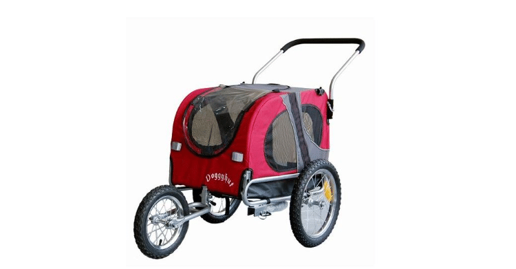 Doggyhut-Hundeanhaenger-und-hundebuggy-Medium-Rot